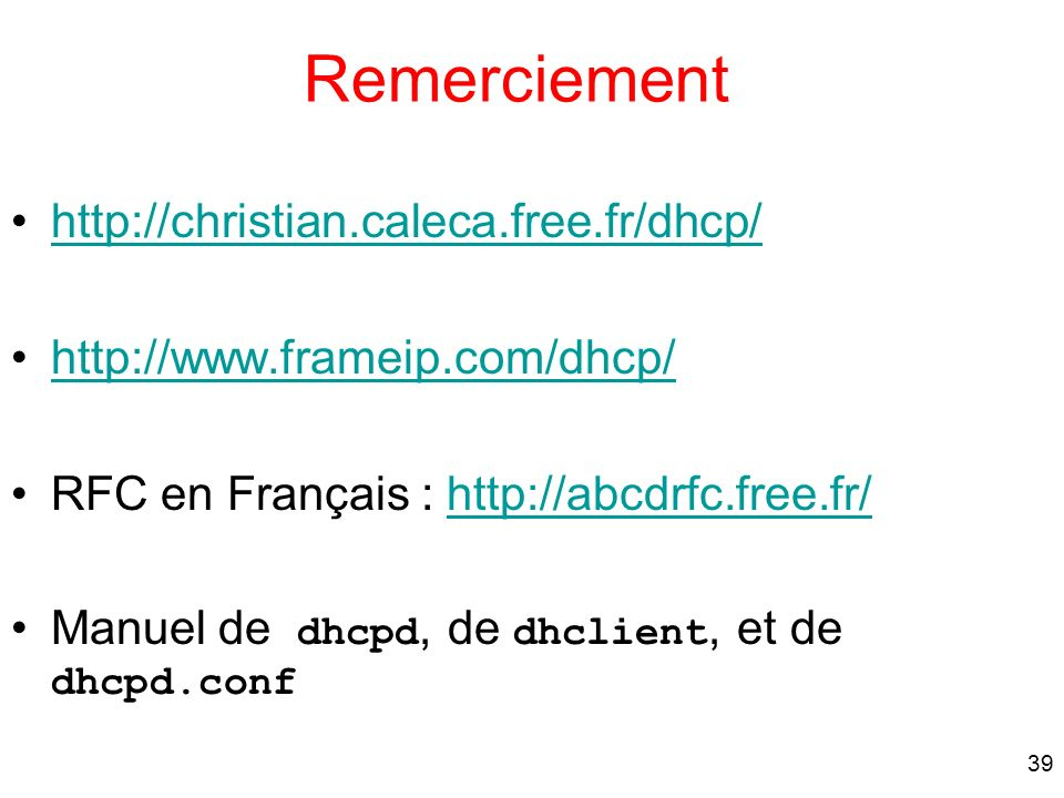 Remerciement http://christian.caleca.free.fr/dhcp/