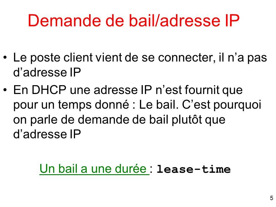 Demande de bail/adresse IP