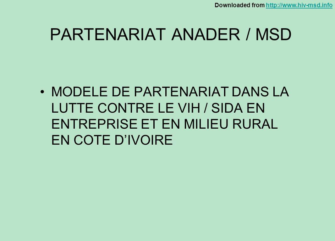 PARTENARIAT ANADER / MSD