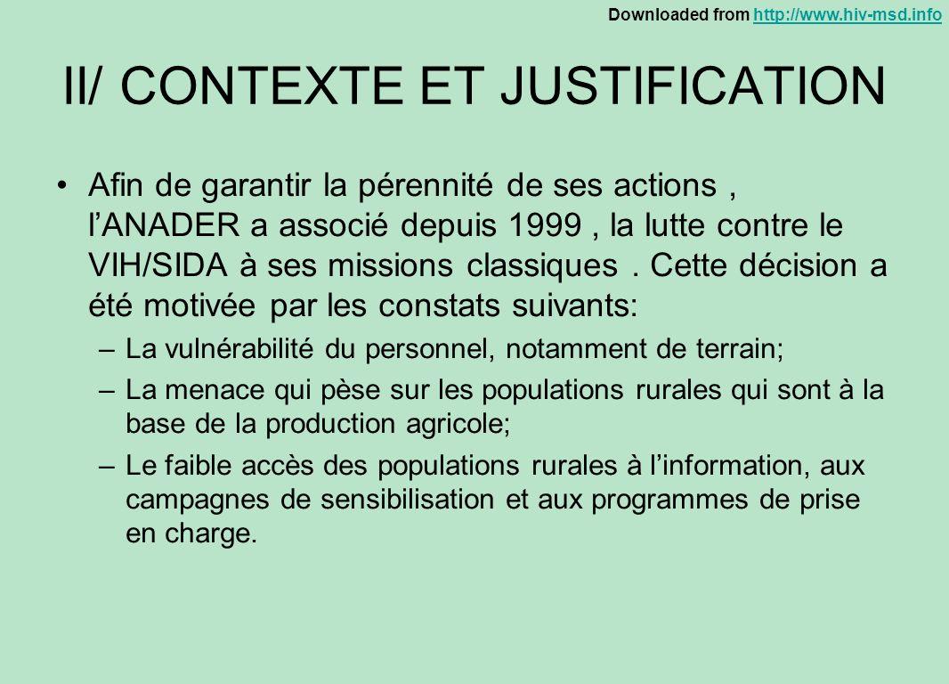 II/ CONTEXTE ET JUSTIFICATION