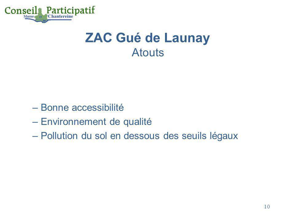 ZAC Gué de Launay Atouts