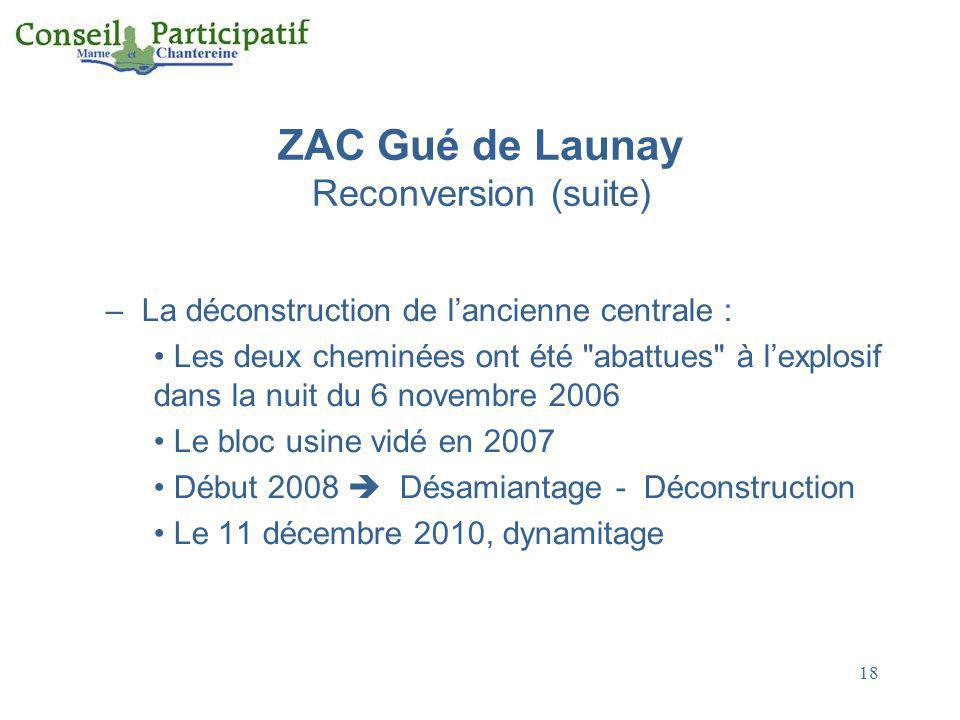 ZAC Gué de Launay Reconversion (suite)