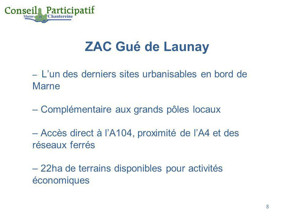 ZAC Gué de Launay Complémentaire aux grands pôles locaux
