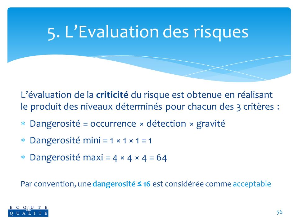 5. L'Evaluation des risques
