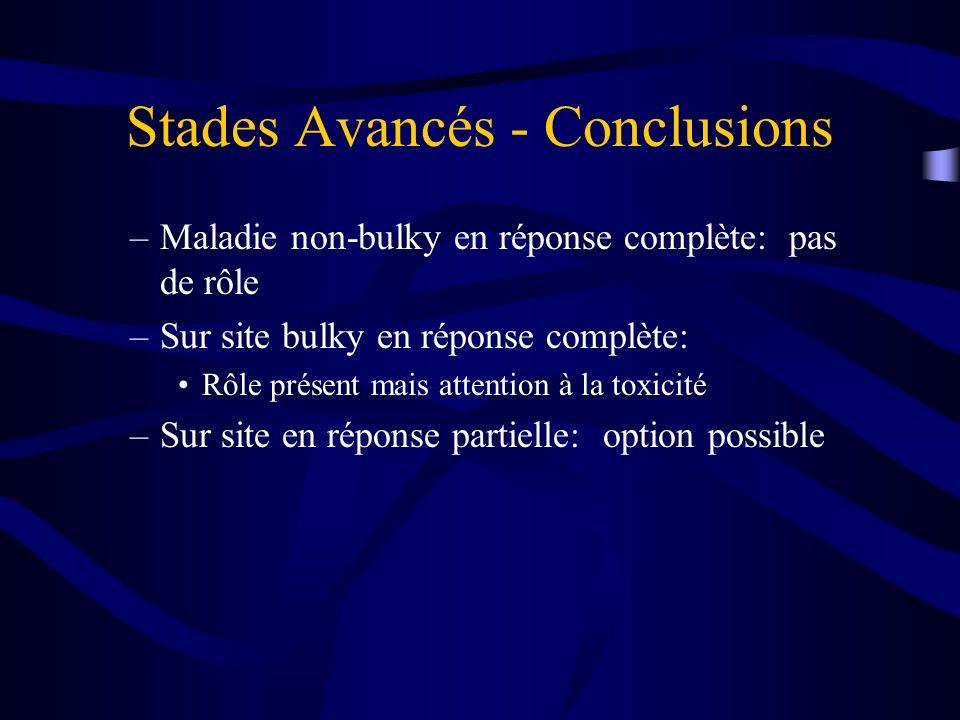 Stades Avancés - Conclusions