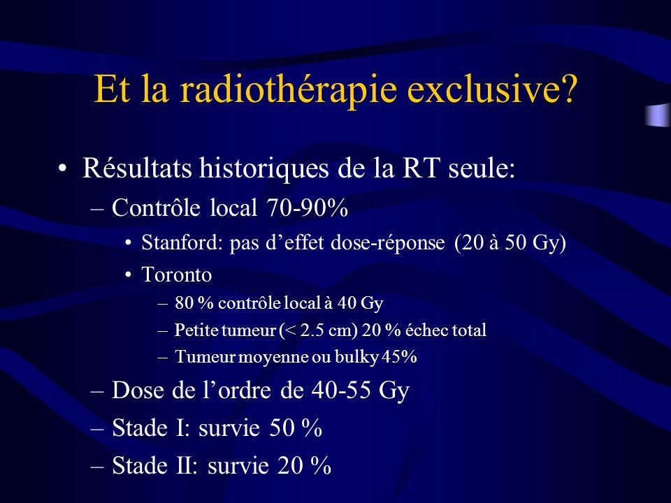 Et la radiothérapie exclusive