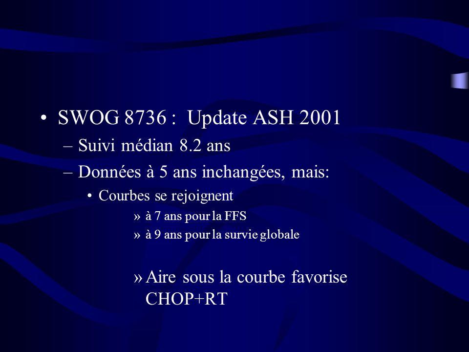 SWOG 8736 : Update ASH 2001 Suivi médian 8.2 ans