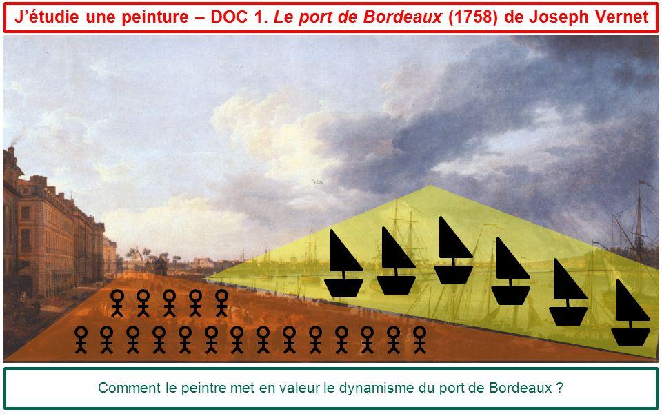 Comment le peintre met en valeur le dynamisme du port de Bordeaux