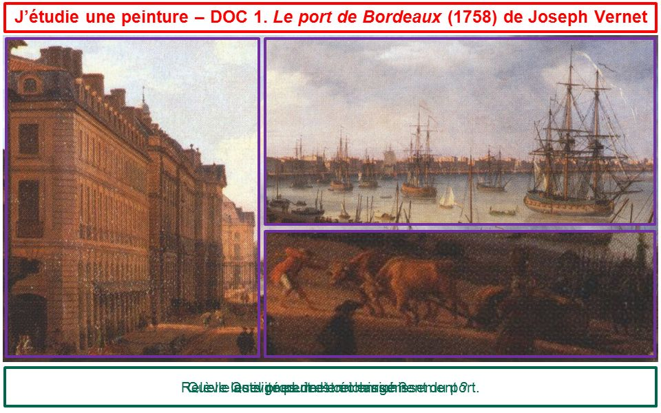 Relève les signes de l'enrichissement du port.