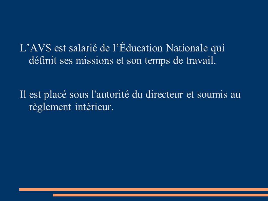 D finition des missions de l 39 avs ppt video online for Definition du reglement interieur