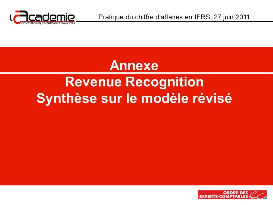 Annexe Revenue Recognition Synthèse sur le modèle révisé