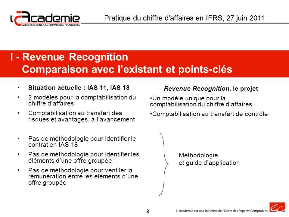 Revenue Recognition, le projet