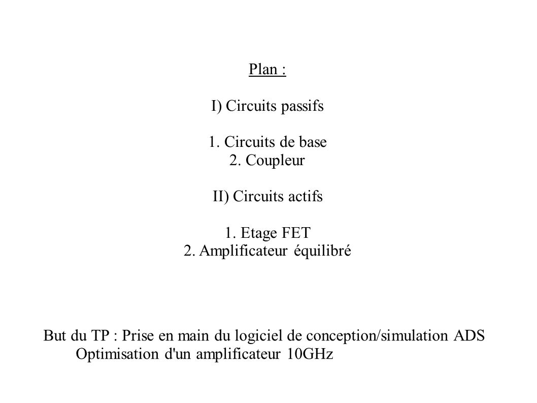 2. Amplificateur équilibré