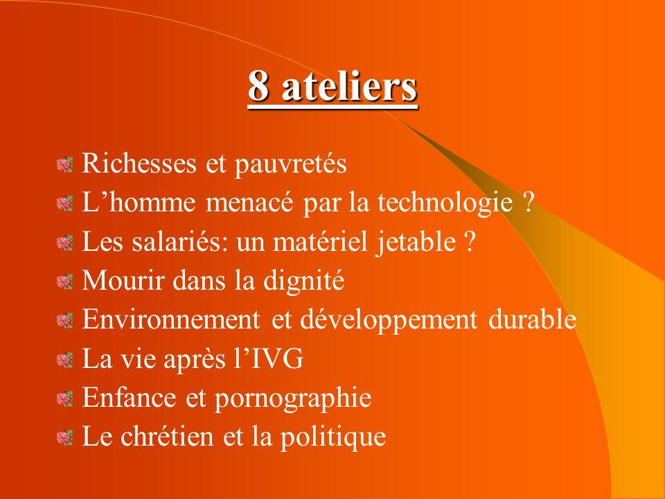 8 ateliers Richesses et pauvretés L'homme menacé par la technologie