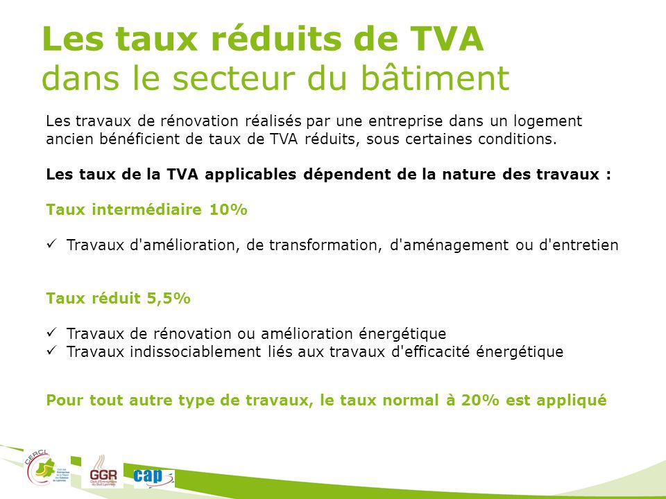 Intervenants bernard chipier chipier irrigation ppt for Taux de tva travaux de renovation