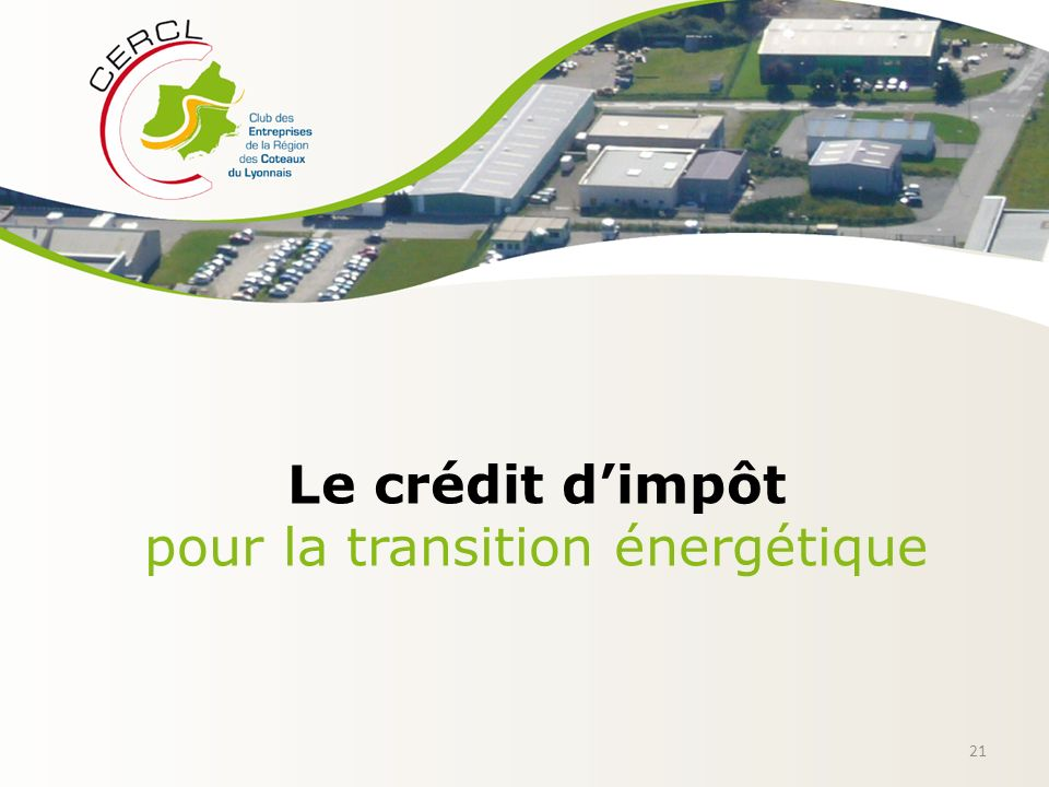 Intervenants bernard chipier chipier irrigation ppt t l charger - Credit d impot transition energetique ...