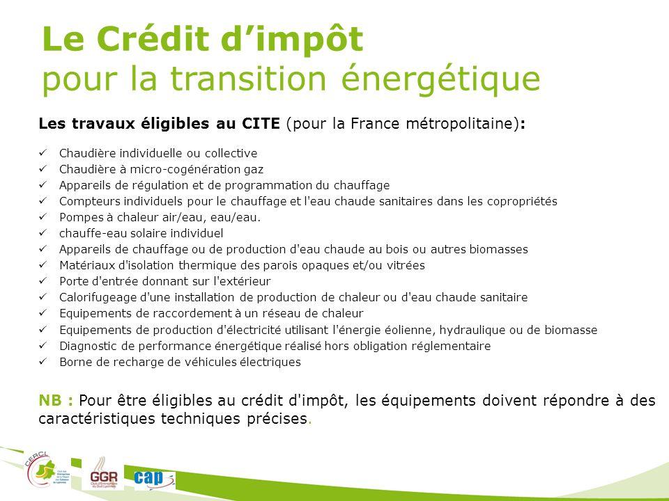 Intervenants bernard chipier chipier irrigation ppt - Credit d impot pour installation d un insert ...