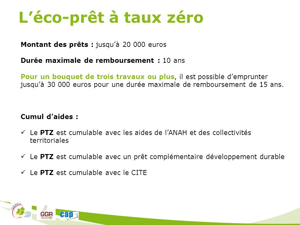 Intervenants bernard chipier chipier irrigation ppt - Pret a taux zero pour travaux ...