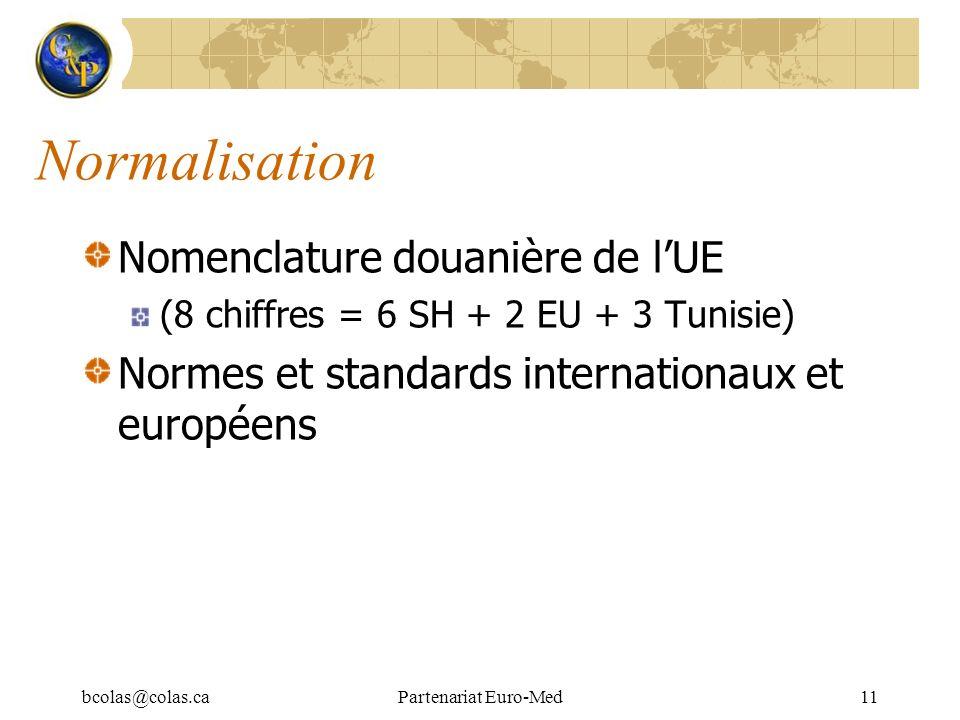 Normalisation Nomenclature douanière de l'UE