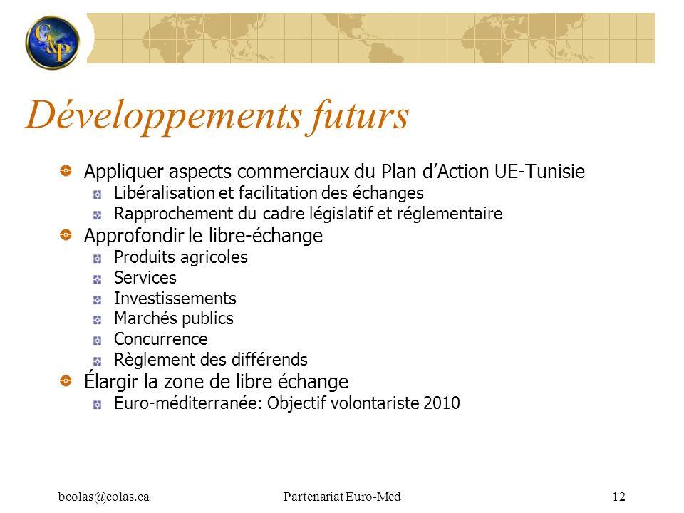 Développements futurs