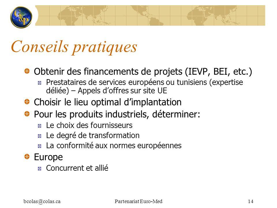 Conseils pratiques Obtenir des financements de projets (IEVP, BEI, etc.)