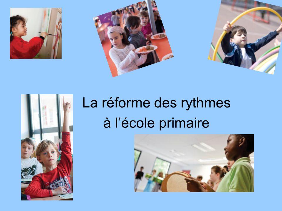La réforme des rythmes à l'école primaire