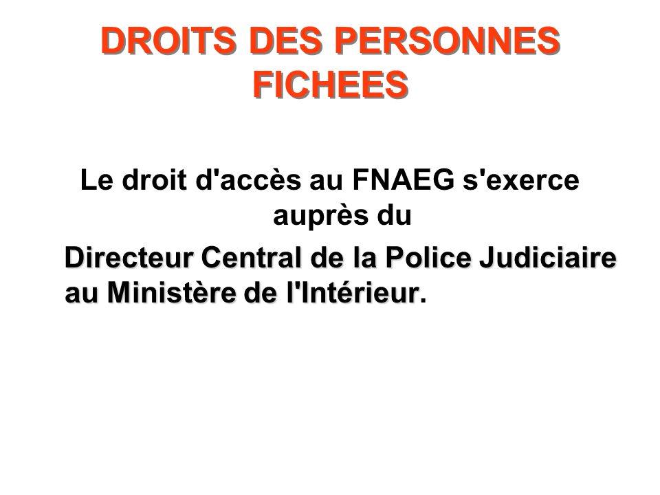 DROITS DES PERSONNES FICHEES