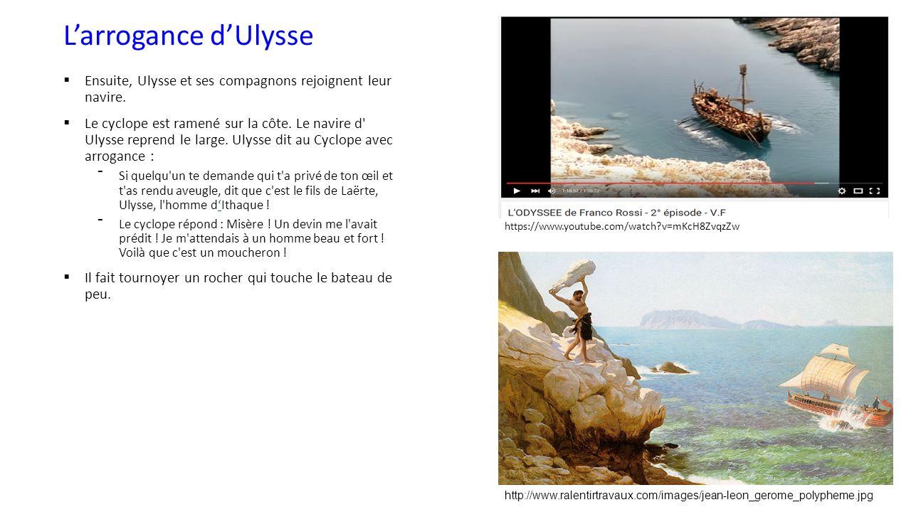 Rencontre d'ulysse avec le cyclope