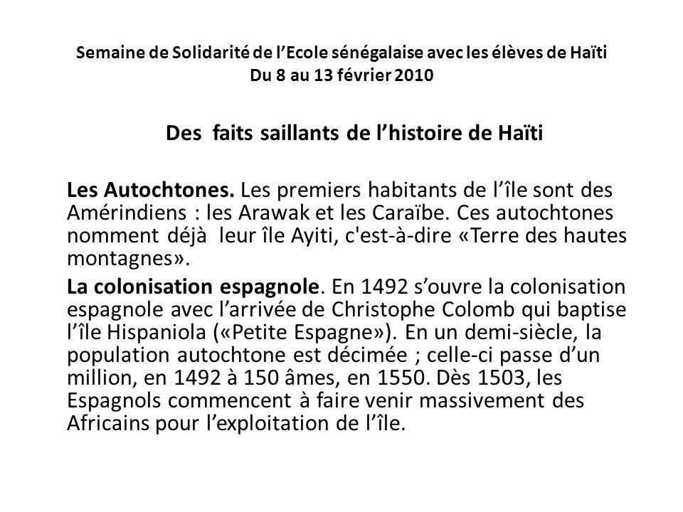 Des faits saillants de l'histoire de Haïti