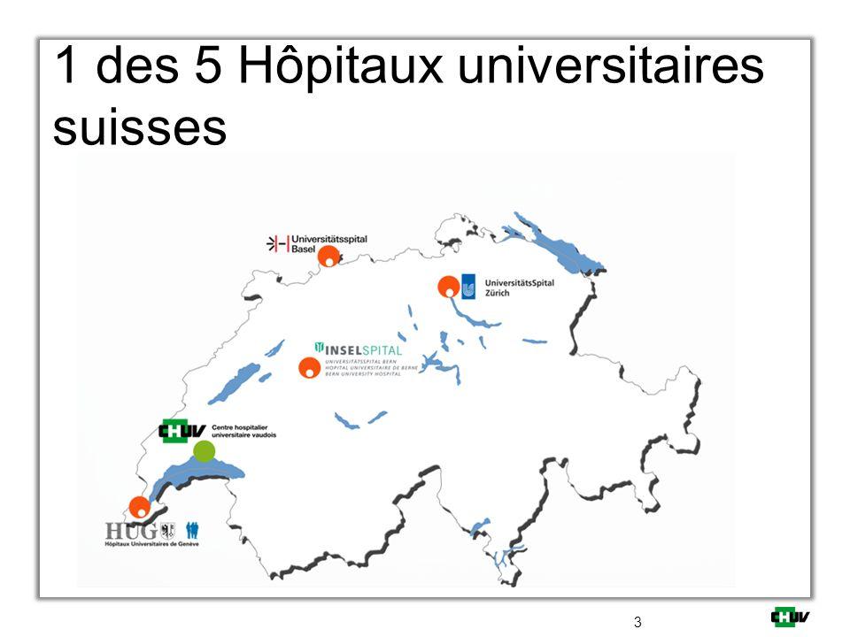 1 des 5 Hôpitaux universitaires suisses