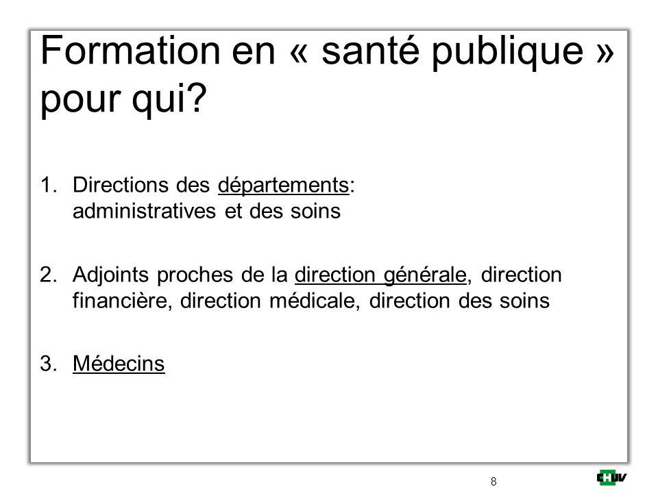 Formation en « santé publique » pour qui