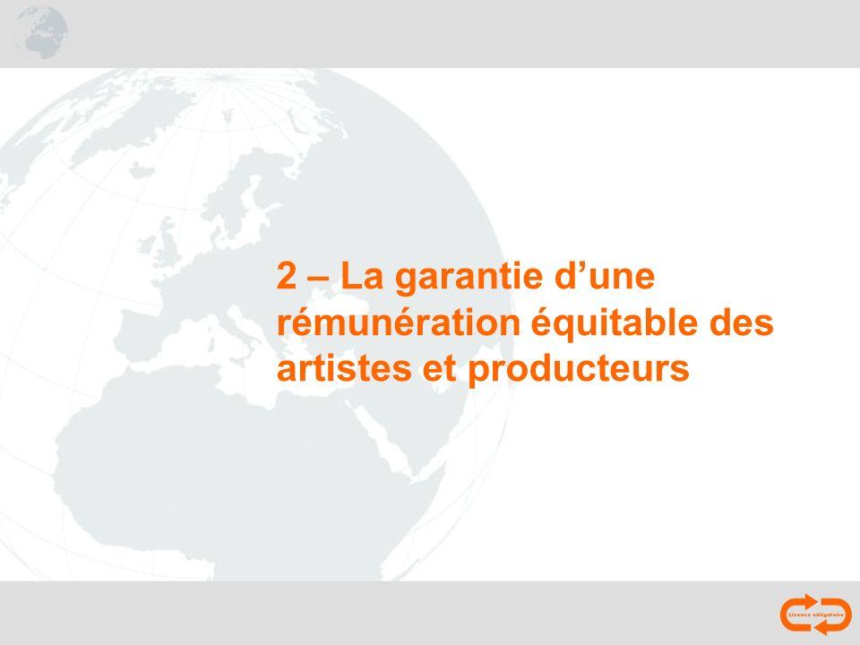 2 – La garantie d'une rémunération équitable des artistes et producteurs