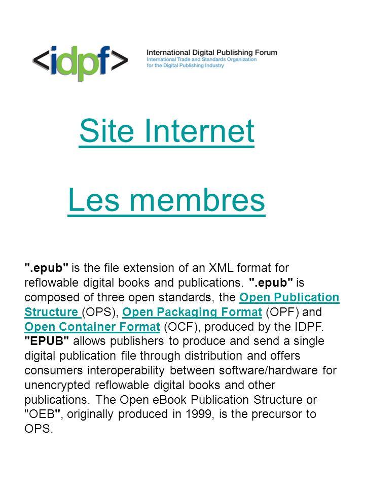 Site Internet Les membres