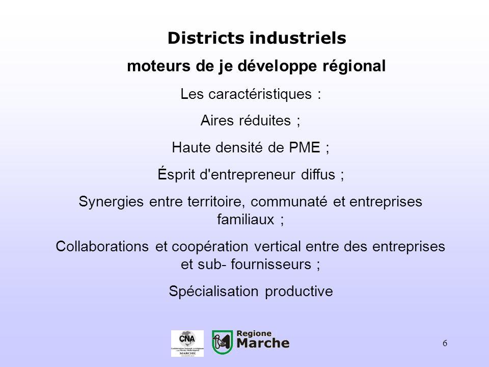 Districts industriels moteurs de je développe régional