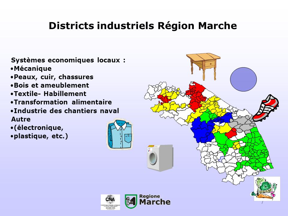 Districts industriels Région Marche