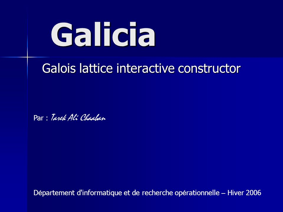 Galois lattice interactive constructor