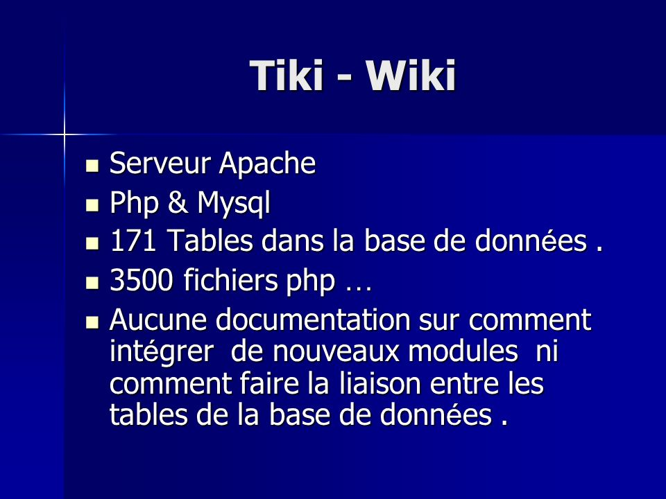 Tiki - Wiki Serveur Apache Php & Mysql