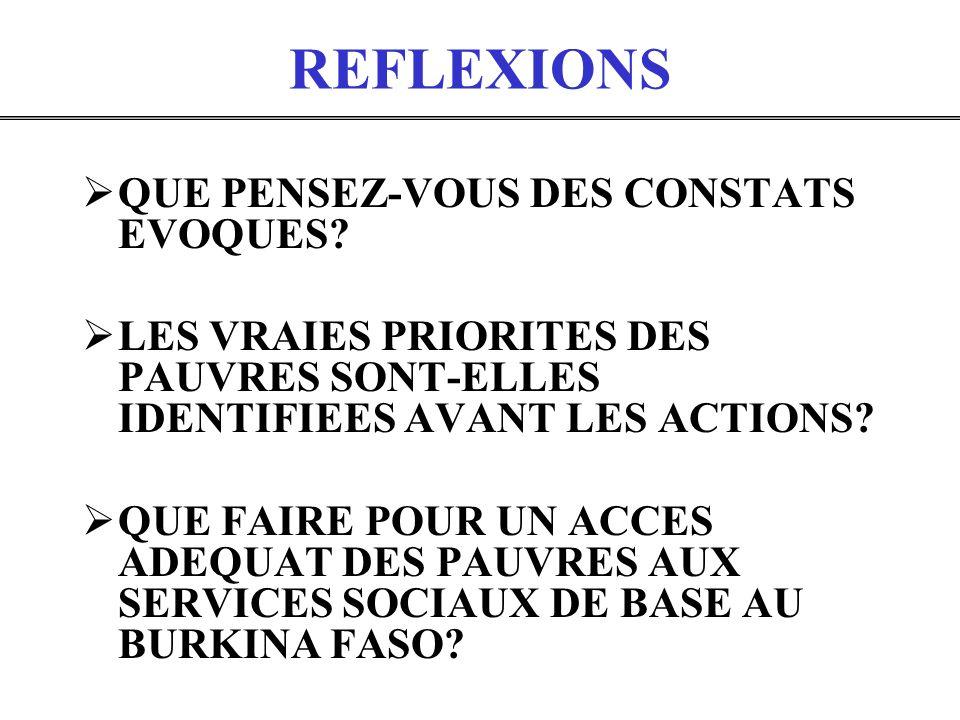 REFLEXIONS QUE PENSEZ-VOUS DES CONSTATS EVOQUES