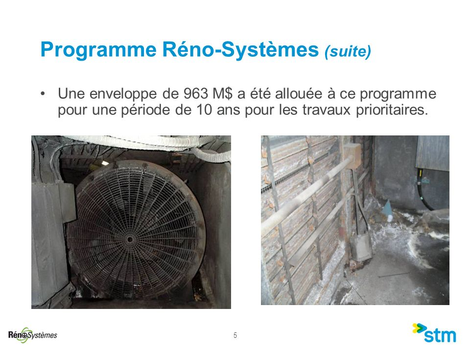 Programme Réno-Systèmes (suite)