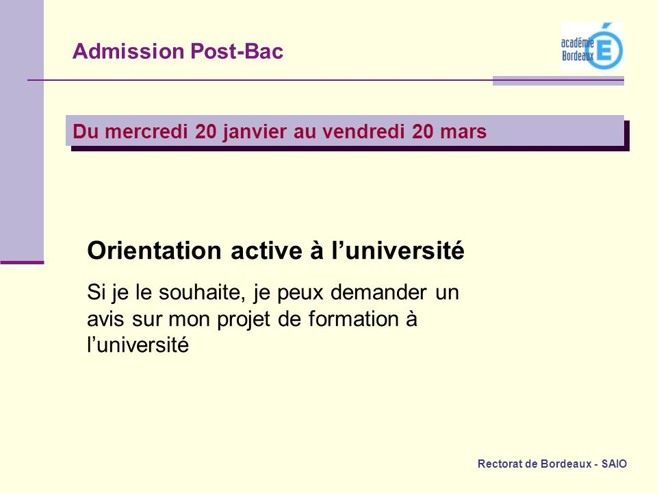 Orientation active à l'université