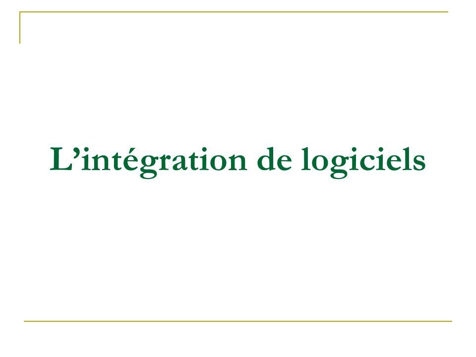 L'intégration de logiciels