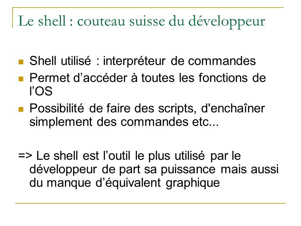 Le shell : couteau suisse du développeur