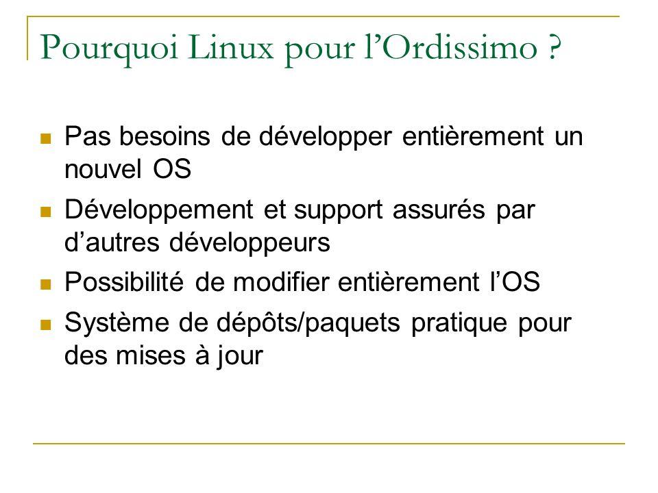 Pourquoi Linux pour l'Ordissimo