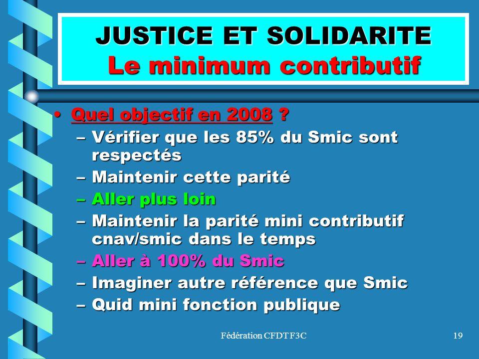 JUSTICE ET SOLIDARITE Le minimum contributif