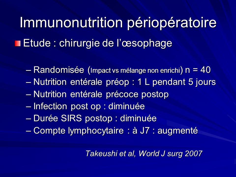 Immunonutrition périopératoire