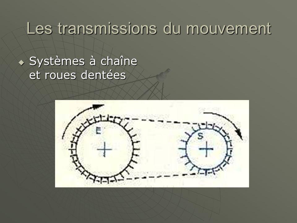 Les transmissions du mouvement