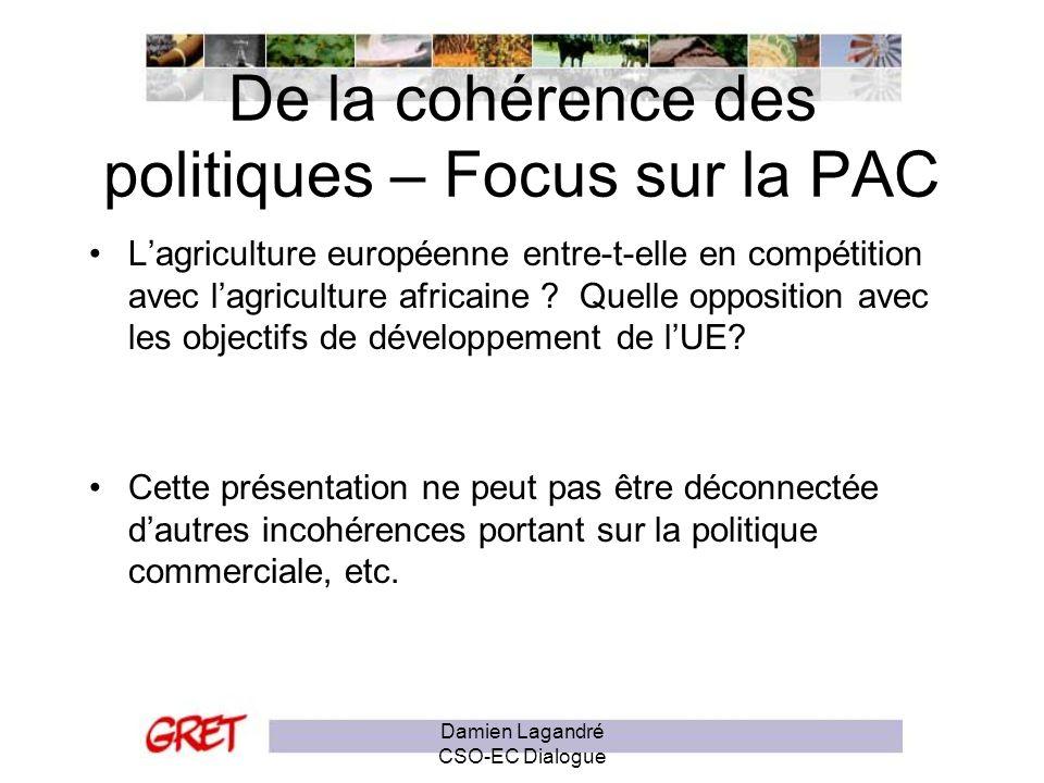 De la cohérence des politiques – Focus sur la PAC