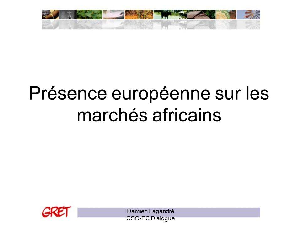 Présence européenne sur les marchés africains