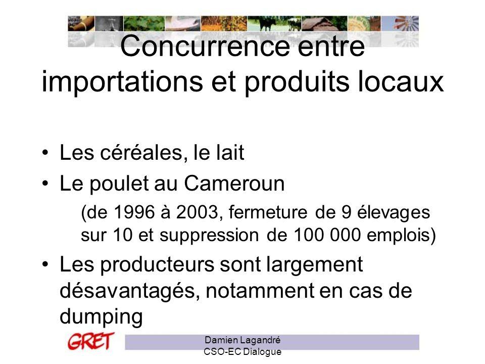 Concurrence entre importations et produits locaux