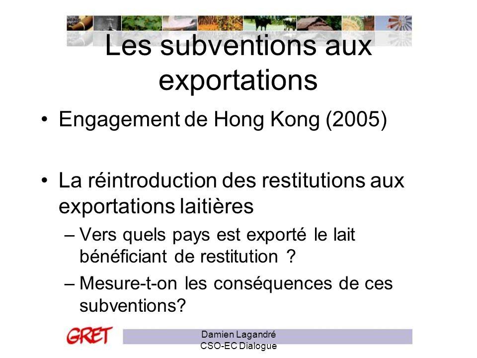 Les subventions aux exportations
